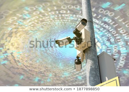 Industrial cctv câmera de segurança sol labareda segurança Foto stock © stevanovicigor