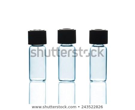 Vegyi üveg tükröződés sötét orvosi gyógyszer Stock fotó © OleksandrO