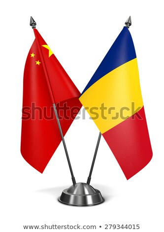 China Rumania miniatura banderas aislado blanco Foto stock © tashatuvango