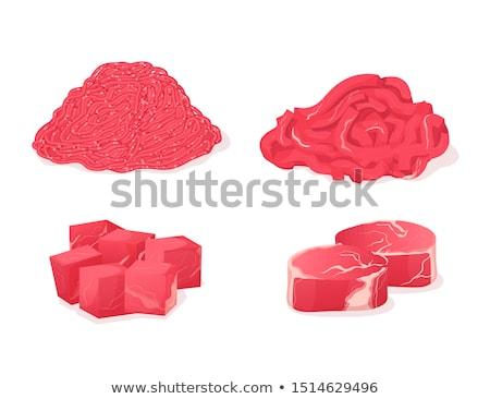 frescos · crudo · carne · todo · pieza · rojo - foto stock © ainat