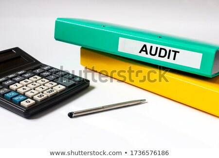 audit concept with word on folder stock photo © tashatuvango