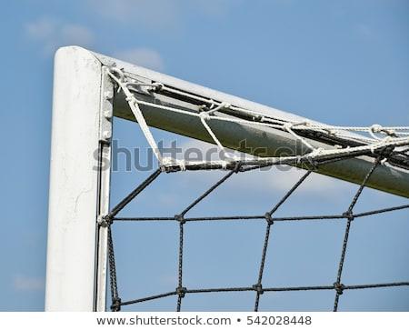 Kapus kék készít mentés fehér futball Stock fotó © wavebreak_media