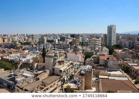 Luchtfoto stad Cyprus hemel reizen gebouwen Stockfoto © Kirill_M