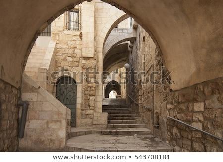 oude · steegje · kwartaal · Jeruzalem · foto · oude - stockfoto © zhukow