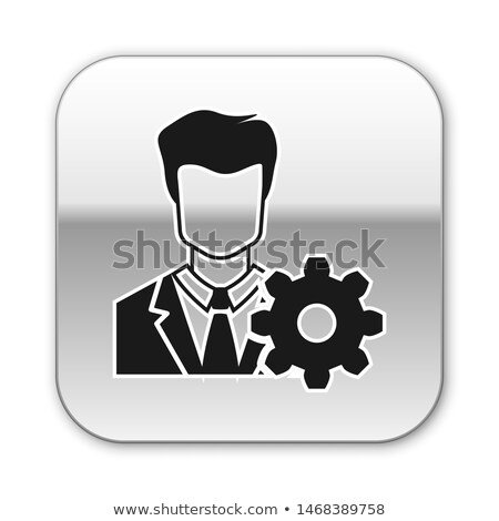 data management in silver grey gears Stock photo © marinini