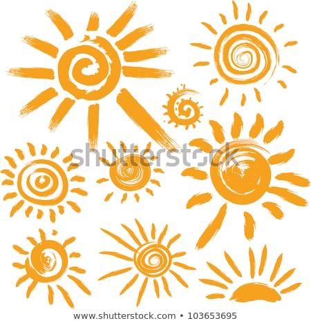 nap · ikon · absztrakt · sárga · virág · szimbólum · felirat - stock fotó © blaskorizov