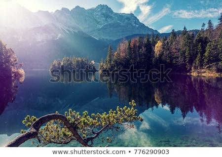 Manzara dağ Almanya yaz gökyüzü güneş Stok fotoğraf © w20er