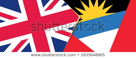 United Kingdom and Antigua and Barbuda Flags Stock photo © Istanbul2009
