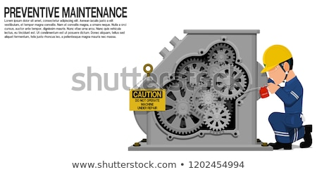 karbantartás · szolgáltatás · fém · sebességváltó · fekete · üzlet - stock fotó © tashatuvango