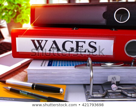 payrolls on ring binder blured toned image stock photo © tashatuvango
