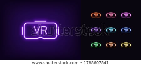 Spectacle Violet Vector Icon Design Stock photo © rizwanali3d