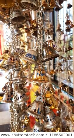 writings inside metallic bell stock photo © smithore