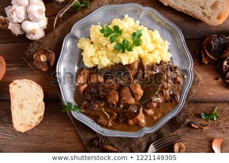 Cebada patatas plato papa pelado placa Foto stock © Digifoodstock