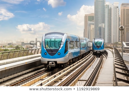 Dubai's Metro with skyscrapers Stock photo © H2O