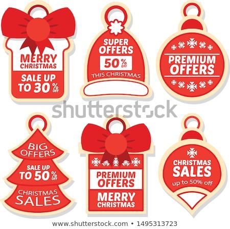 Christmas Deal Red Vector Icon Design Stock photo © rizwanali3d