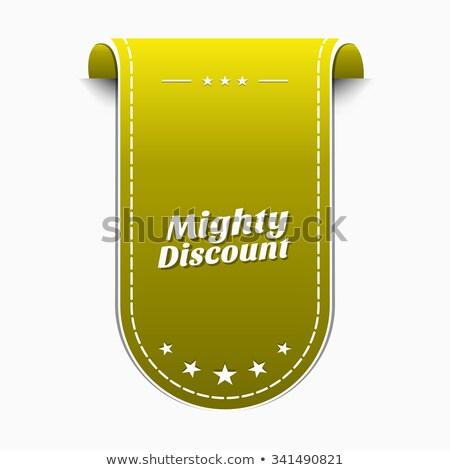 Potężny zniżka żółty wektora ikona projektu Zdjęcia stock © rizwanali3d