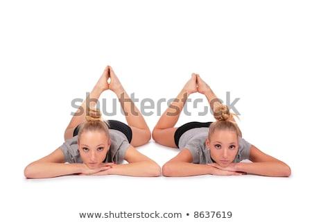 iker · sport · lányok · lábujjhegy · nő · család - stock fotó © paha_l