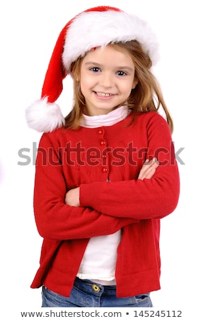 little girl in furry hat Stock photo © Paha_L