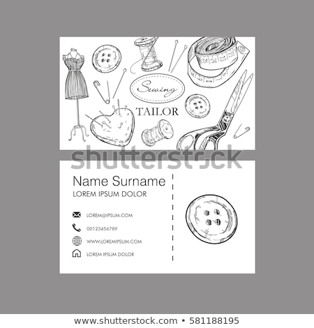 doodle vector set of tailor business stock photo © netkov1
