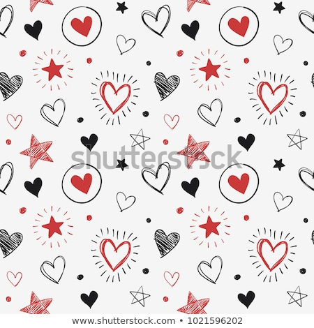 beautiful girl silhouette with star heart  Stock photo © ESSL