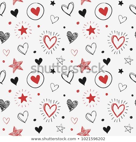 Stock fotó: Gyönyörű · lány · sziluett · csillag · szív · gyönyörű · nő · nő