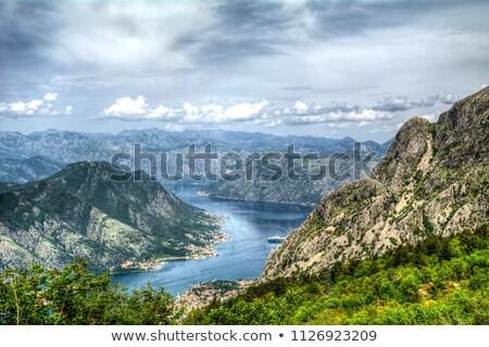 Lovcen national park. Mountain view on Boka Kotor bay Stock photo © Steffus