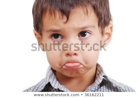 kicsi · fiú · érzés · aranyos · mélabús · arc - stock fotó © zurijeta