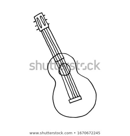 Guitar scribbled  Stock photo © shawlinmohd