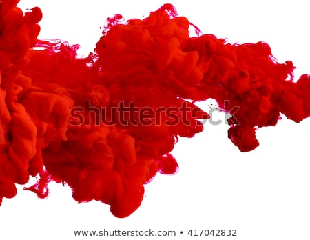 flowing red paint Stock photo © zven0