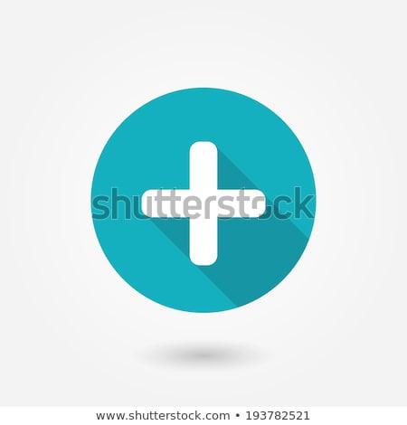 teken · iconen · illustratie · witte · kruis · achtergrond - stockfoto © bluering