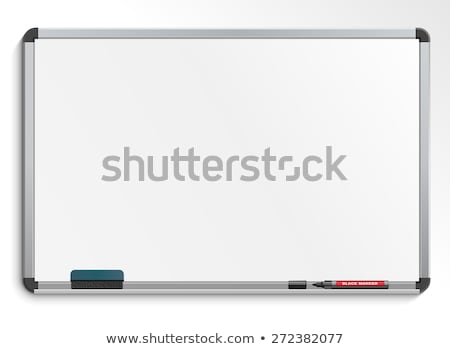 Fehér tábla fakeret iskola ír tábla rajz Stock fotó © dezign56