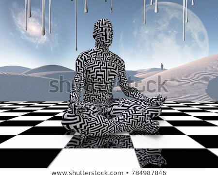 Space and time (chess metaphor). 3D render illustration. Stock photo © grechka333