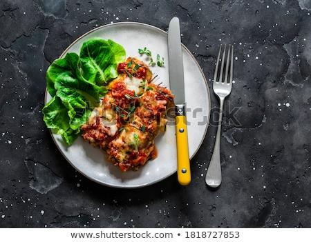Viande courgettes boulettes de viande léger tranches poulet Photo stock © Digifoodstock
