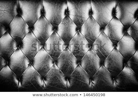 Dark genuine leather vintage chair Stock photo © restyler