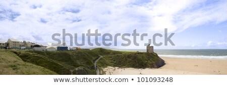 Panorámica vista playa acantilado Foto stock © morrbyte