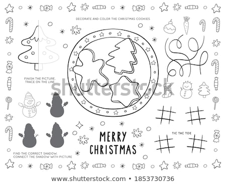 Christmas placemat Stock photo © hamik