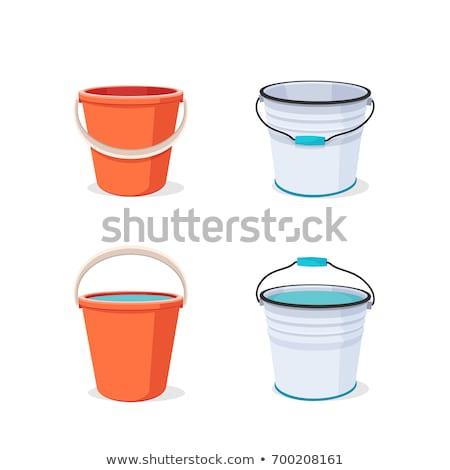 balde · pintura · papel · de · parede - foto stock © Photofreak