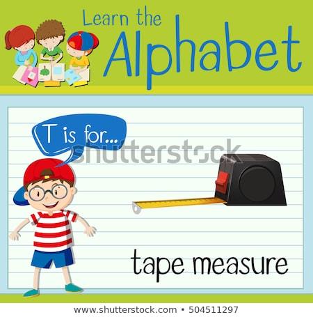 Letra t fita métrica crianças criança fundo arte Foto stock © bluering