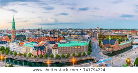 Kopenhaga Dania rano widoku pałac budynku Zdjęcia stock © vladacanon