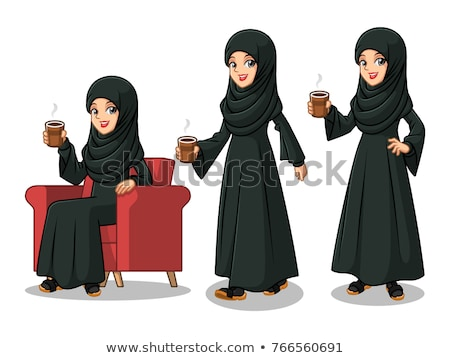 businesswoman in black dress sitting on the chair stock photo © deandrobot