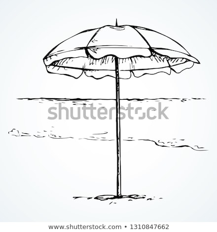 Napernyő rajz ikon vektor izolált kézzel rajzolt Stock fotó © RAStudio