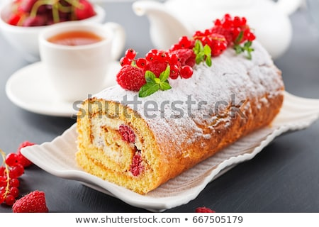 Krém sajt szivacs zsemle fakanál torta Stock fotó © Digifoodstock
