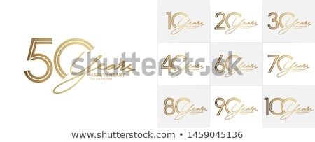 10th anniversary celebration card template Stock photo © SArts