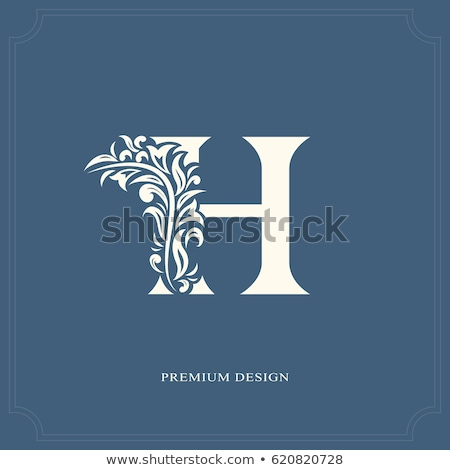 hotel brand logo design with letter H Stock photo © SArts