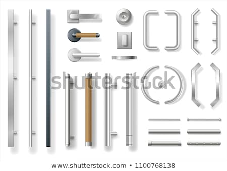 Modern metallic door handle Stock photo © stevanovicigor