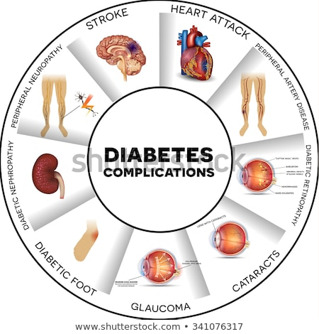 diabetes complications round info graphic stock photo © tefi