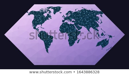amazing technology background with digital wires mesh Stock photo © SArts