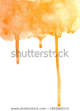 Turuncu suluboya leke etki su kâğıt Stok fotoğraf © SArts