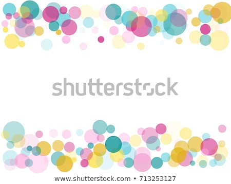 Round banner with roses on a blue background Stock photo © blackmoon979