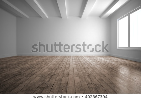 Empty Room With Wooden Floor Stock photo © albund